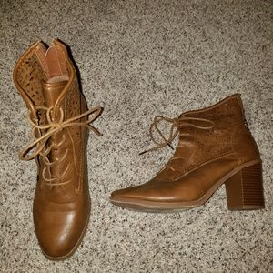 Forever Heel Leather Boots